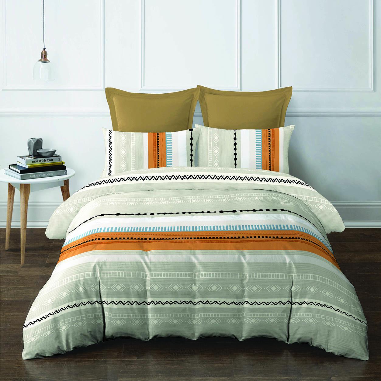 5pcs Queen Comforter Set (420 thread count, smooth cotton) - Andela